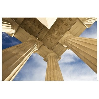 """Columns, Lincoln Memorial, Washington, USA"" Poster Print"