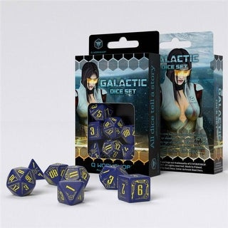 Q-Workshop QWOSGAL45 Galactic, Navy & Yellow - Set of 7