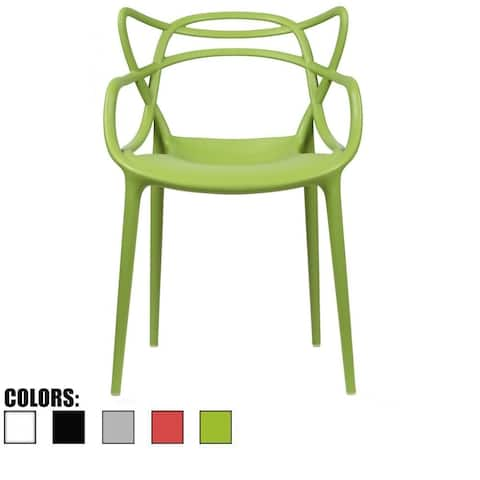 Single Modern Contemporary Design Master Green Dining Arm Chairs