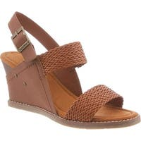 Bearpaw Womens racquel Leather Open Toe Casual Platform Sandals