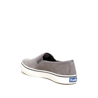 Keds Womens DOUBLE DECKER Suede Low Top Pull On Fashion Sneakers