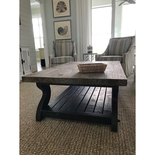 Shop Satur Natural And Black Reclaimed Wood Coffee Table By Kosas Home    Free Shipping Today   Overstock.com   8789777