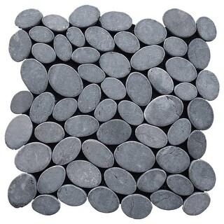 Miseno MT-C3RGY Wheel Stone Mosaic Natural Stone Tile (9.68 SF / Carton) - gray