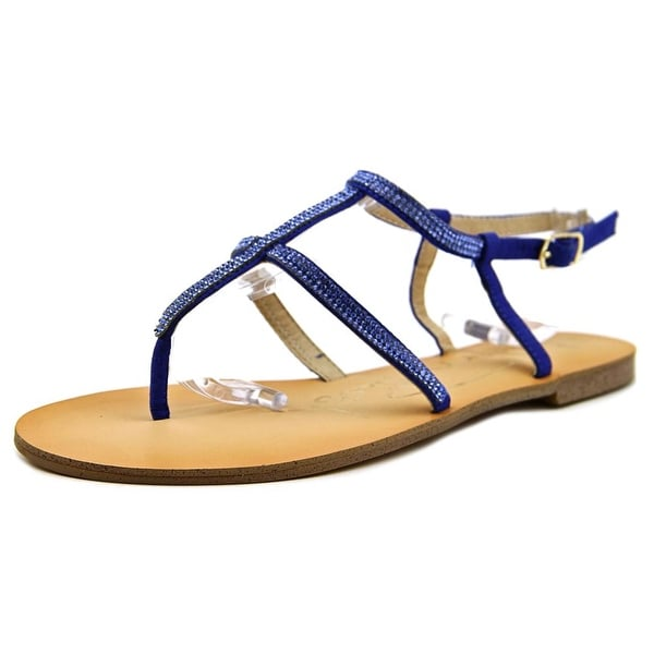 Modern Rush Janette Women Open Toe Synthetic Blue Sandals