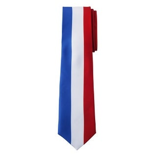 Jacob Alexander France Country Flag Colors Men's Necktie - Vertical Blue White Red French Colors Design