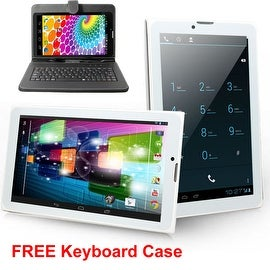 Indigi® 3G Unlocked 2-in-1 SmartPhone + TabletPC Android 4.4 KitKat + WiFi + DualSIM Slots w/ Keycase included