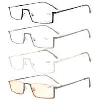 Eyekepper 4-Pack Quality Spring Hinges Half-Rim Reading Glasses+2.75