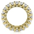 3.20 cttw. 14K Yellow Gold Round Diamond Eternity Ring - Thumbnail 1
