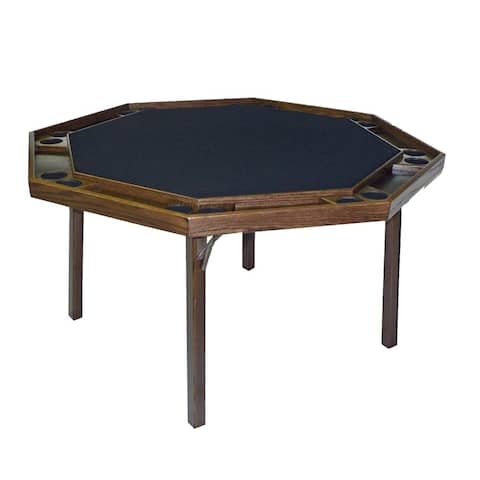 Kestell Oak Contemporary Style Poker Table - Fabric Playing Surface
