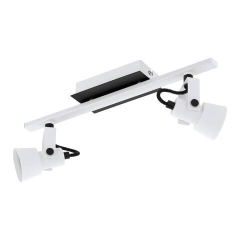 Eglo Trillo 2-Light Track Light with White and Black Finish
