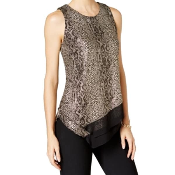 3f0245fdd750e Shop MSK NEW Gold Womens Size Large L Metallic Animal Print Knit Top - Free  Shipping On Orders Over  45 - Overstock.com - 18946820