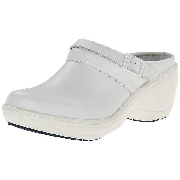 Spring Step Pro Women's Sicilia Clogs - white leather