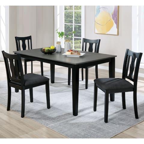 Furniture of America Trackler Transitional Black 5-piece Dining Set