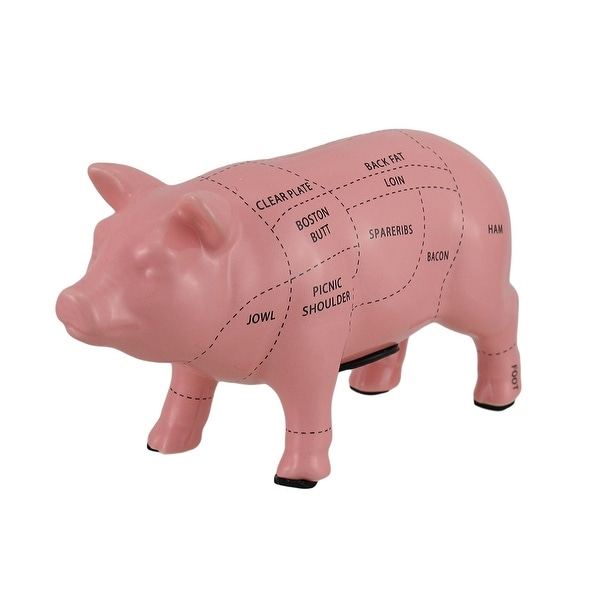 Pink Ceramic Pig Shaped Coin Bank Butcher Chart Piggy Bank 4 in.. Opens flyout.