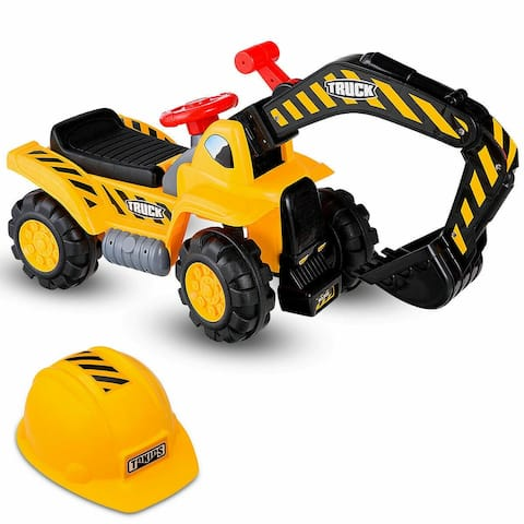 Costway Kids Toddler Ride On Excavator Digger Truck Scooter Seat