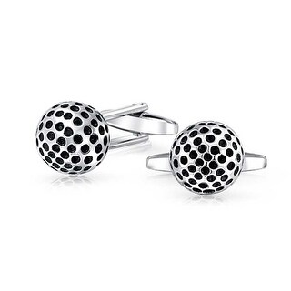 Bling Jewelry Mens Stainless Steel Sports Golf Ball Cufflinks