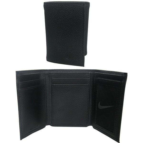 Nike Tri-Fold Leather Wallet with Leave-in License Window