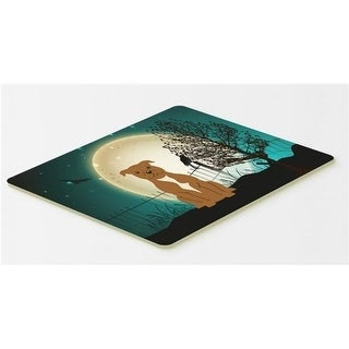 Carolines Treasures BB2237CMT Halloween Scary Staffordshire Bull Terrier Brown Kitchen or Bath Mat 20 x 30