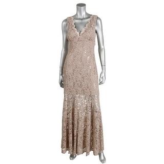 Night Way Womens Lace Full-Length Evening Dress