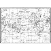 "World Map - Darkroom Door Background Cling Stamp 4""X6"""