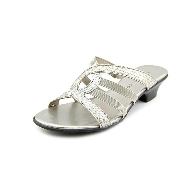 Karen Scott Emet Open Toe Synthetic Slides Sandal