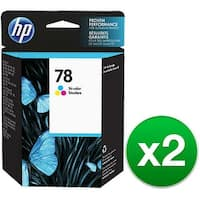 HP 78 Tri-color Original Ink Cartridge (C6578DN) (2-Pack)