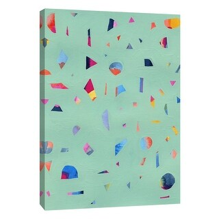 "PTM Images 9-108658  PTM Canvas Collection 10"" x 8"" - ""Confetti 1"" Giclee Abstract Art Print on Canvas"