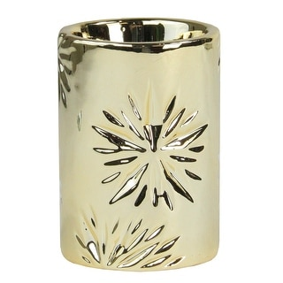 """Link to 3.25"""" Small Gold Snowflake Christmas Candle Holder Similar Items in Decorative Accessories"""