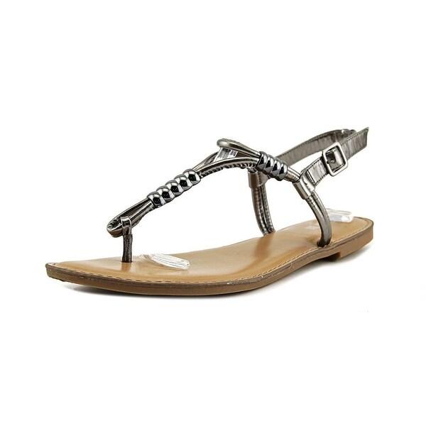 Bar III Vortex Women Pewter Sandals