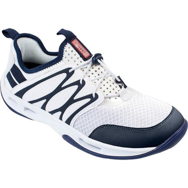164e85f1bfcf Shop Rugged Shark Men s Starboard Lace Up White Navy Synthetic Mesh - On  Sale - Free Shipping Today - Overstock.com - 10097199