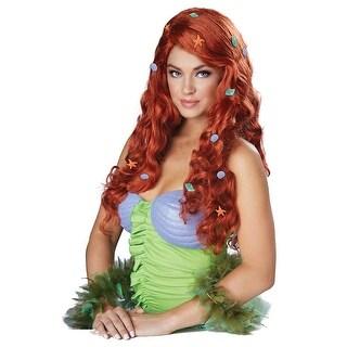 Womens Aquatic Fantasy Red Mermaid Wig