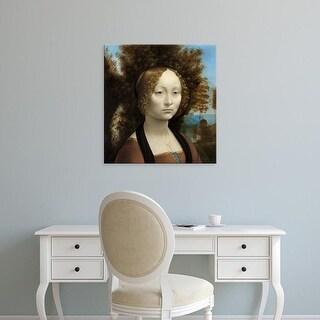 Easy Art Prints Leonardo da Vinci's 'Ginevra de' Benci' Premium Canvas Art