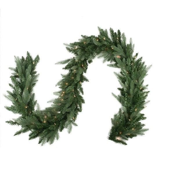 """9' x 12"""" Pre-Lit Washington Frasier Fir Artificial Christmas Garland - Clear Lights - green"""