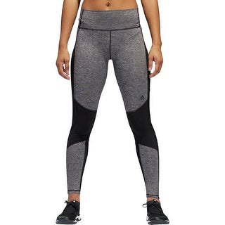 Adidas Women's ClimaLite Compression Colorblocked Leggings Grey Size Medium - M