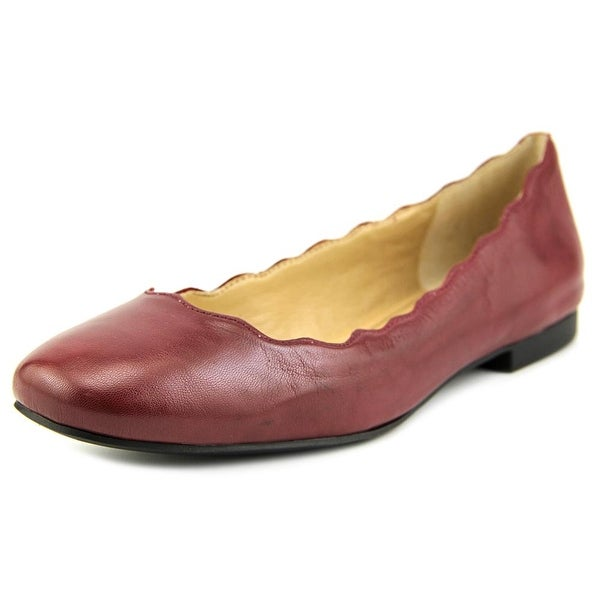 Sole Society Annalee Round Toe Leather Flats