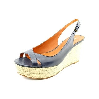 Via Spiga Luciana Women Open Toe Leather Wedge Sandal