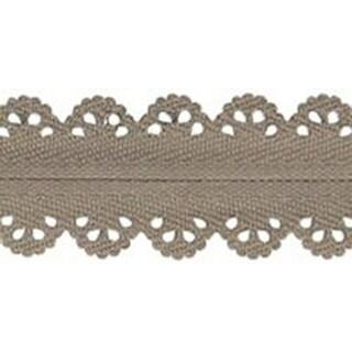 """Taupe - Designer Lace Plastic Zipper 23.62"""""""