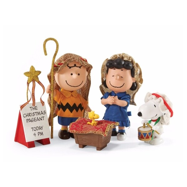 "Department 56 Peanuts Clothtique ""The Christmas Pageant"" 5-Piece Figurine Set #4046607"