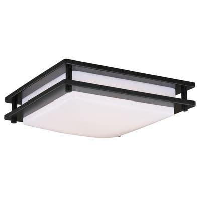 """Vaxcel Horizon 12"""" LED Flush Mount Oil Burnished Bronze - 12-in W x 3.5-in H x 12-in D"""