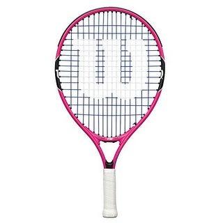 Wilson Girls Burn Pink 19 Racket, Pink/Black, 3.5