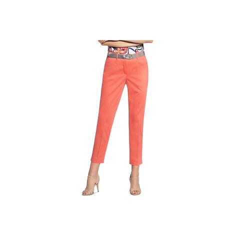 Basler Womens Plus Diana Trouser Pants Cropped Mid-Rise - Orange