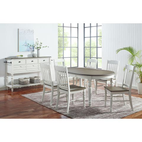 The Gray Barn Gustine Two-tone Farmhouse 8-Piece Dining Set with Sideboard