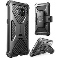 i-Blason-Samsung Galaxy S7 Prime Series Kickstand Case with Belt Clip Holster-Black
