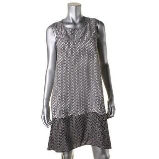 Studio M Womens Casual Dress Geometric Colorblock