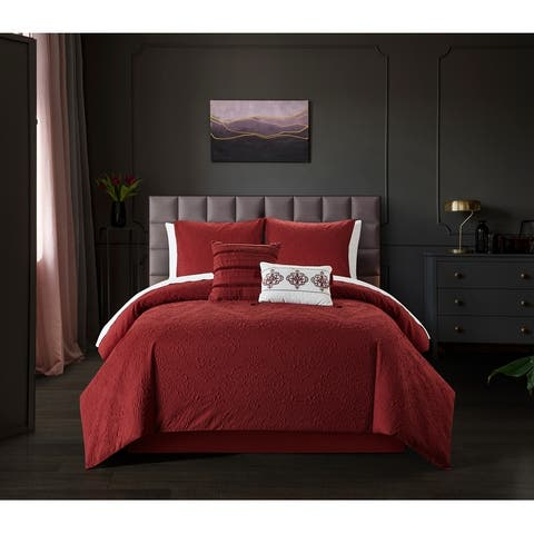 Chic Home Mya 9 Piece Embossed Pattern Bed In A Bag Comforter Set