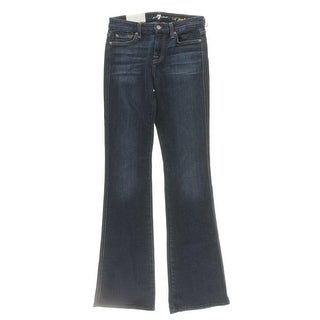 7 For All Mankind Womens Flare Jeans Denim Stretch - 25