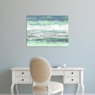Easy Art Prints Jennifer Goldberger's 'Seascape Striations I' Premium Canvas Art