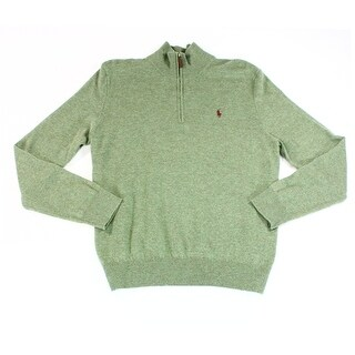 Polo Ralph Lauren NEW Heather Green Mens Size Small S 1/2 Zip Sweater