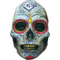 Mexican Day of the Dead Adult Costume Face Mask Zombie - Multi