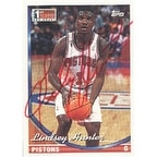 Lindsey Hunter Detroit Pistons 1994 Topps 1st Round NBA Draft Autographed Card Nice Card This item comes with a cer